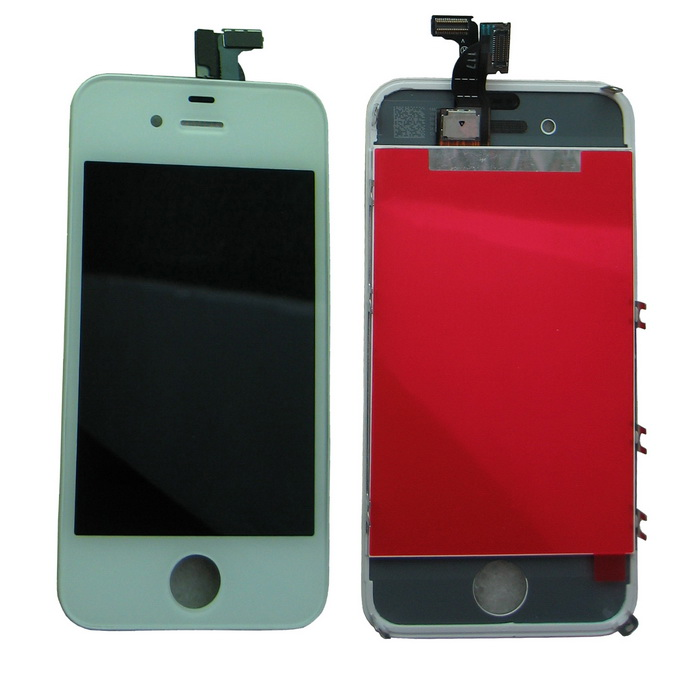 Wholesale FOR iPhone 4 4G LCD wirh Digitizer, Display+Touch Screen Glass +Frame