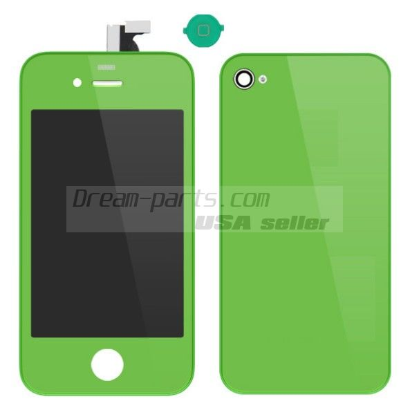 Colorful Replacement LCD Touch Screen Digitizer+Battery Cover For iPhone 4 4G wholesale------