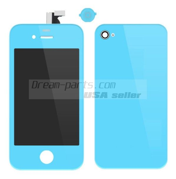 Colorful Replacement LCD Touch Screen Digitizer+Battery Cover For iPhone 4 4G wholesale-----