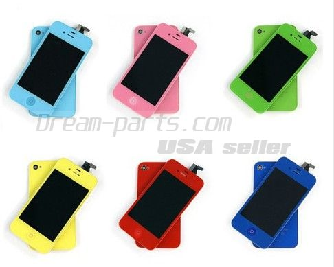 Colorful Replacement LCD Touch Screen Digitizer+Battery Cover For iPhone 4 4G wholesale