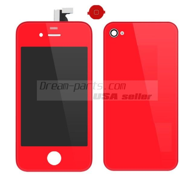 Colorful Replacement LCD Touch Screen Digitizer+Battery Cover For iPhone 4 4G wholesale--