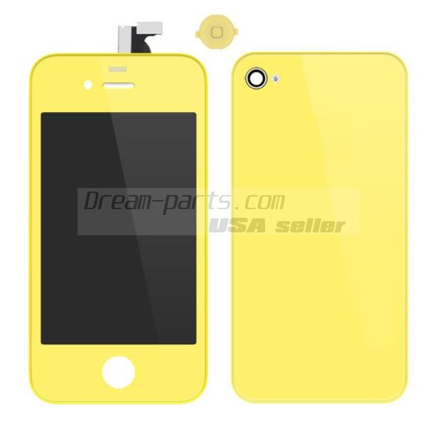 Colorful Replacement LCD Touch Screen Digitizer+Battery Cover For iPhone 4 4G wholesale---