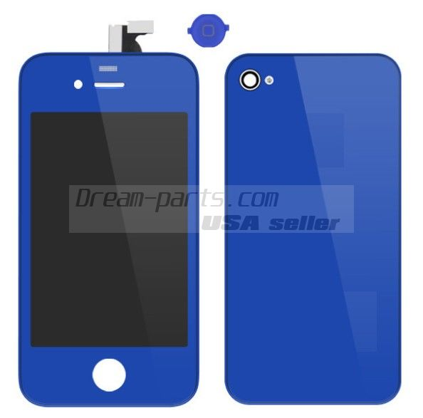 Colorful Replacement LCD Touch Screen Digitizer+Battery Cover For iPhone 4 4G wholesale----