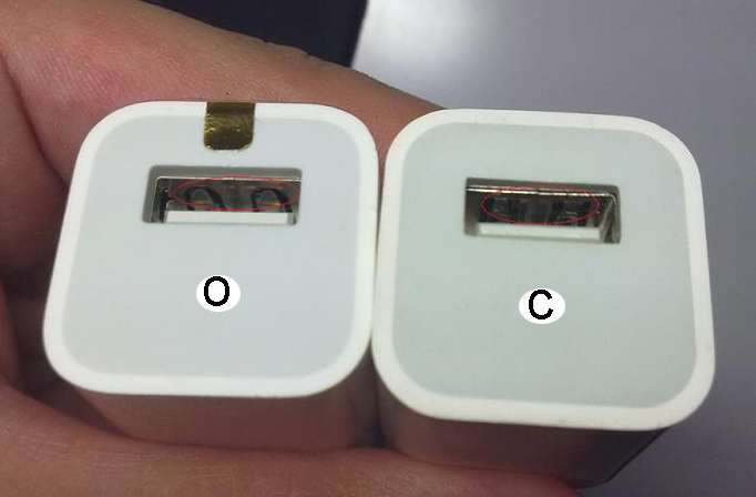 Differences between original and fake iphone chargers-1