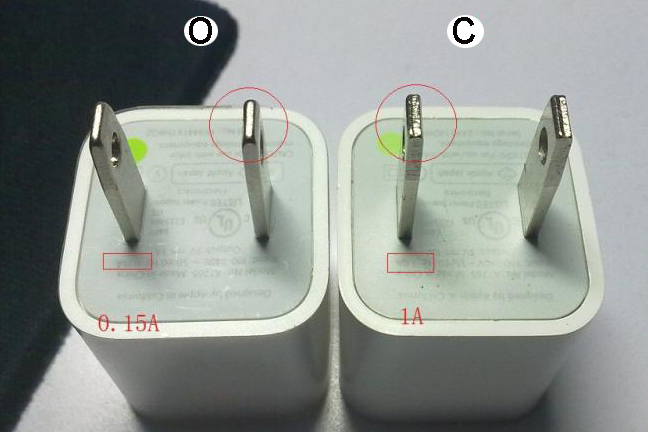 Differences between original and fake iphone chargers-2