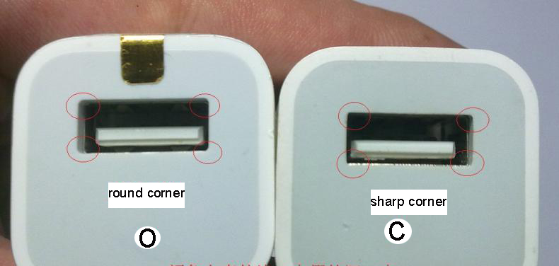 Differences between original and fake iphone chargers-3