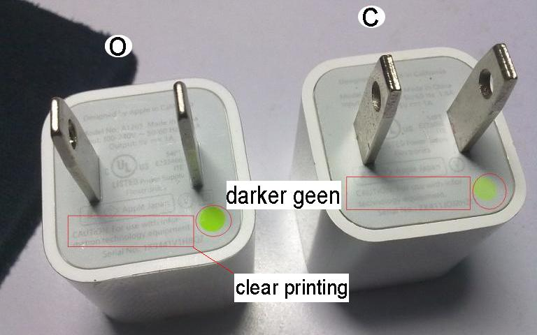 Differences between original and fake iphone chargers-4