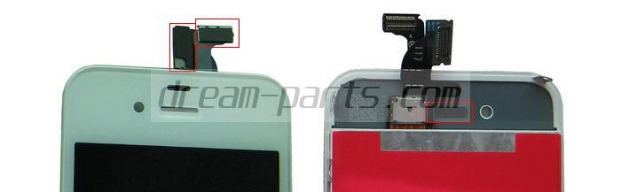 iphone 4 lcd with padding and mesh