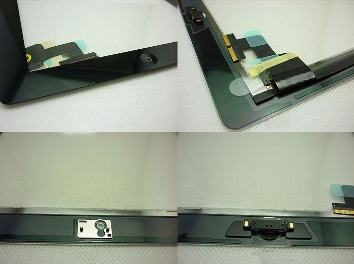 ipad 2 touch glass screen parts assembly with home button