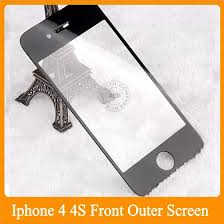 Replacement Part Front Screen Lens outer Glass For iPhone 4 4S