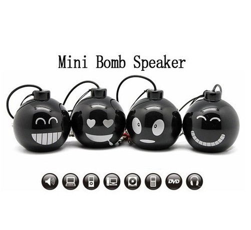 High Quality Cute Face Mini Speaker, Portable Rechargeable Stereo Loud Speaker