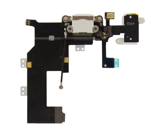 Genuine Charging Port Dock Connector+Headphone Audio Jack Mic Flex Cable for iPhone5