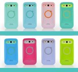 Korean hit color Samsung i9300 i9308 silicone phone case with stand wholesale noctilucent protective