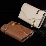 Apple iphone 5/5 s wallet zipper holster 4 s card wallet folding cases