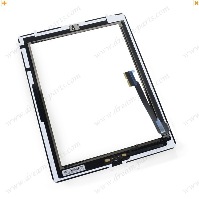 For Apple iPad 4th Gen Front Panel Glass Assembly