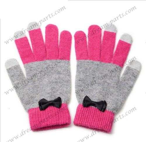 Lovely lady rabbit warm induction gloves
